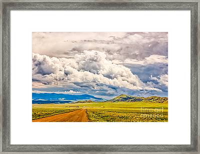 Road To Elevenmile Canyon Framed Print by Dennis Wagner