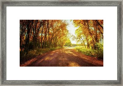 Framed Print featuring the photograph Road To Eternity by John De Bord