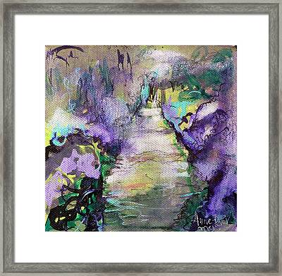 Road To Euphoria Framed Print by Anne-D Mejaki - Art About You productions