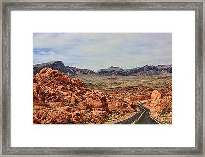 Framed Print featuring the photograph Road To Fire by Tammy Espino