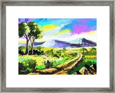 Road To The Hills Framed Print by Anthony Mwangi