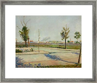 Road To Gennevilliers Framed Print by Paul Signac