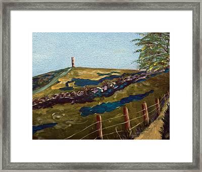 Road To Glastonbury Framed Print by Maura Satchell