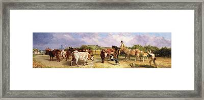 Road To Gloucester Fair Framed Print by Briton Riviere