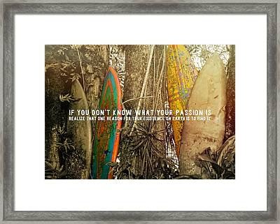 Road To Hana Quote Framed Print by JAMART Photography