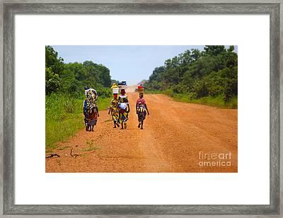 Road To Home Framed Print by Naoki Takyo