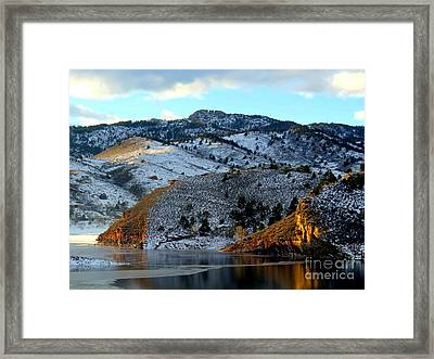 Road To Horsetooth 2 Framed Print by Diane M Dittus