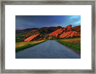 Framed Print featuring the photograph Road To Light by John De Bord