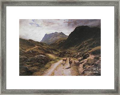 Road To Loch Maree Framed Print by Celestial Images