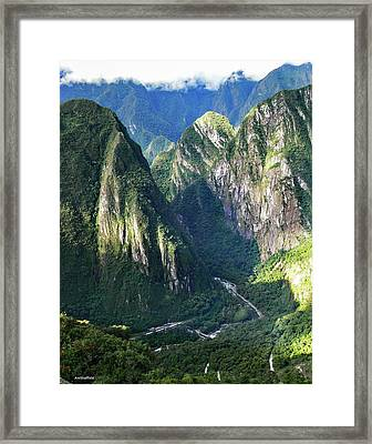Road To Machu Picchu  Framed Print by Allen Sheffield