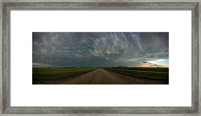 Road To Mammatus Framed Print