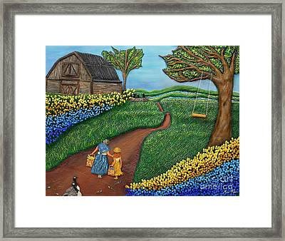 Road To Maple Framed Print by Anne Klar