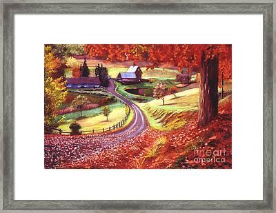 Road To Maplegrove Farm Framed Print