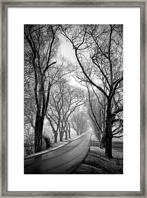 Road To Meems Bottom Bridge Framed Print