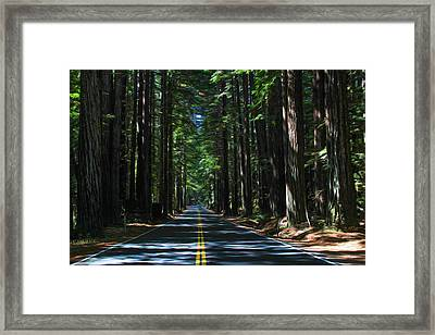 Road To Mendocino Framed Print