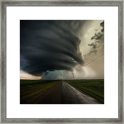 Framed Print featuring the photograph Road To Mesocyclone by Aaron J Groen