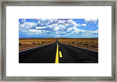 Road To Meteor Crater Framed Print