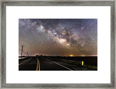 Road To Milky Way Framed Print