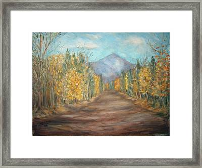 Road To Mountain Framed Print by Joseph Sandora Jr