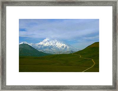 Framed Print featuring the photograph Road To Mt Mckinley by Jack G  Brauer