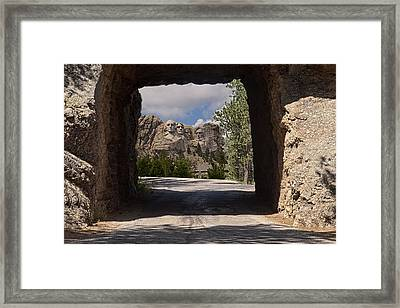 Road To Mt. Rushmore Framed Print