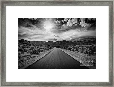 Road To Oblivion Framed Print by Jennifer Magallon