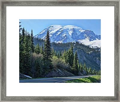 Road To Rainier Framed Print