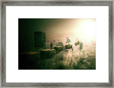 Framed Print featuring the digital art Road To Recovery  by Nathan Wright