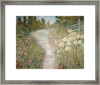 Road To Sebago Framed Print by Joseph Sandora Jr