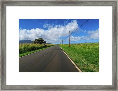Road To Somewhere Framed Print by Jera Sky