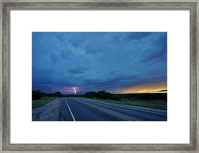 Lightning Over Sonora Framed Print