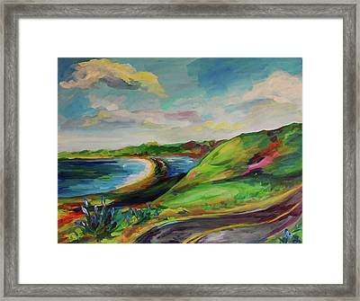 Road To Stinson Framed Print by Danielle Hacker