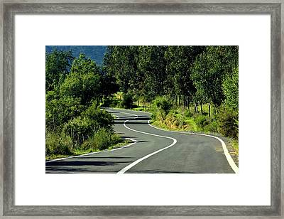 Road To Tapijue Framed Print by Fernando Lopez Lago