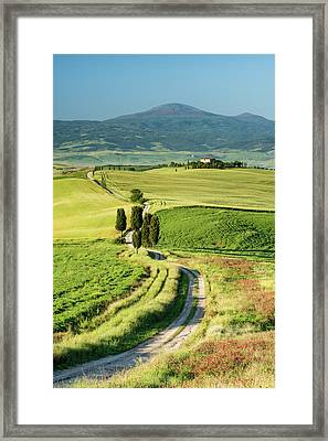 Road To Terrapille - Vertical Framed Print by Michael Blanchette