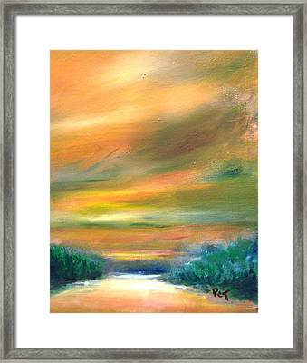 Road To The Beach At Sunset Framed Print by Patricia Taylor