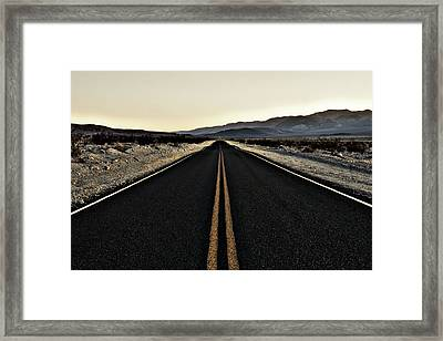 Road To The End Framed Print