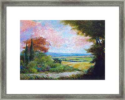 Road To The Fields Framed Print by Dale  Witherow