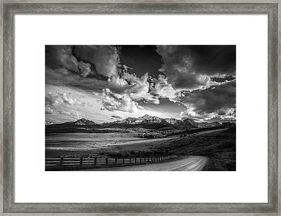 Framed Print featuring the photograph Road To The Mountains by Andrew Soundarajan