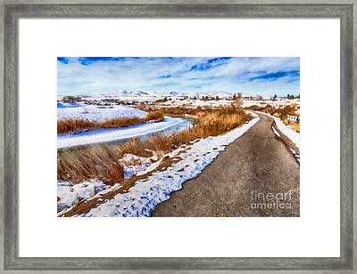 Road To The Mountains Framed Print by David Millenheft