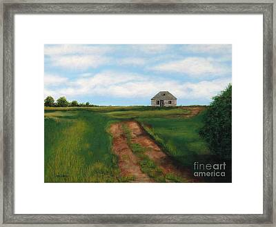 Road To The Past Framed Print