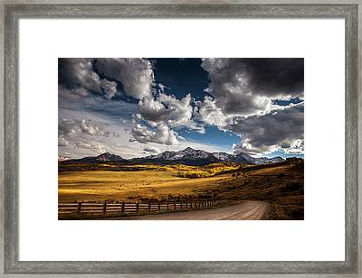 Road To The Rockies Framed Print by Andrew Soundarajan