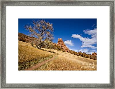 Road To The Rocky Blue Framed Print