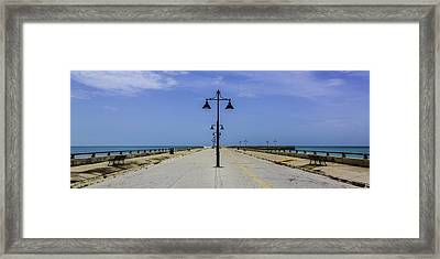 Framed Print featuring the photograph Road To The Sea by Paula Porterfield-Izzo