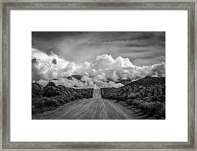 Road To The Sky Framed Print by Peter Tellone