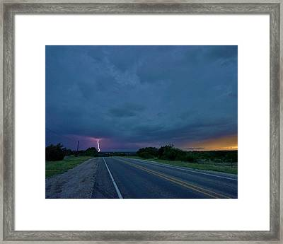 Road To The Storm Framed Print by Ed Sweeney