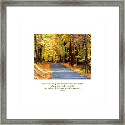 Framed Print featuring the photograph Road To Truth by Kristen Fox
