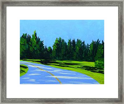 Road To Uma Framed Print by Laurie Breton