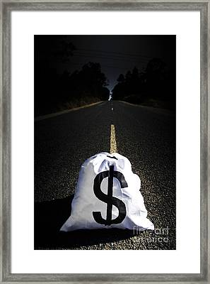 Road To Wealth And Financial Gain Framed Print