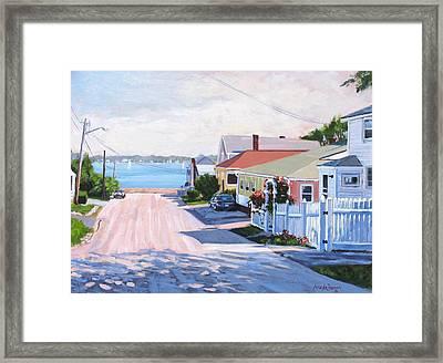 Road To Wessagussett Framed Print
