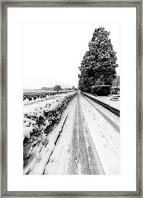 Road To Winter Framed Print by Adrian Evans